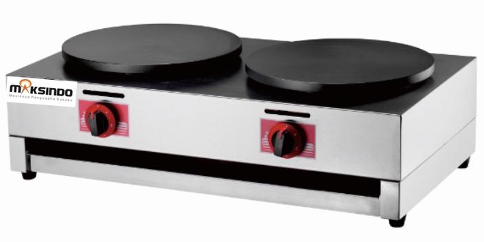 Mesin Crepes Gas Double Pan (DE8Ax2)2