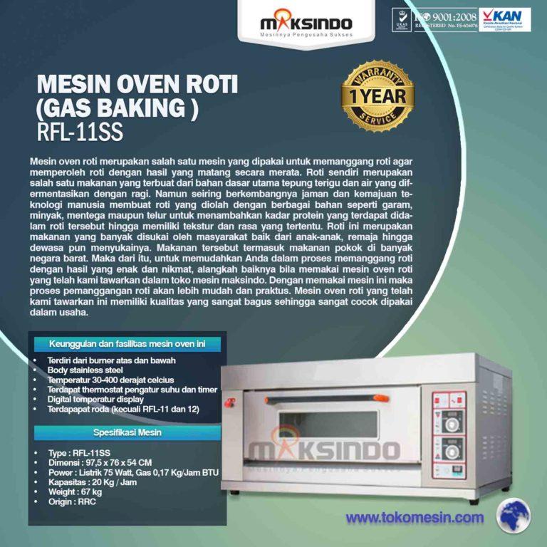 Mesin Oven Roti (Gas baking) RFL-11SS