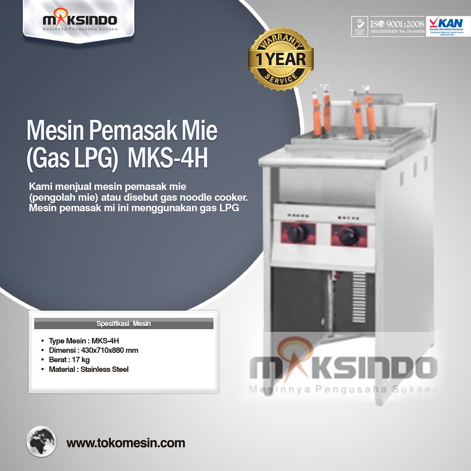 Mesin Pemasak Mie (Gas LPG) MKS-4H