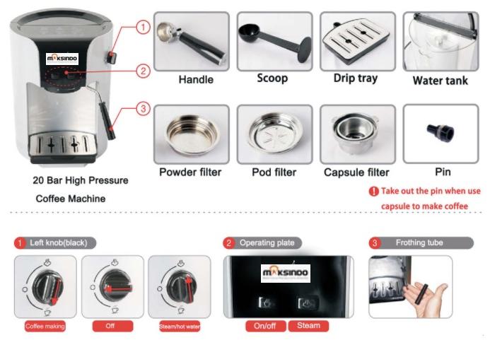 Mesin Kopi Espresso Semi Auto - MKP50-11
