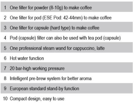 Mesin Kopi Espresso Semi Auto - MKP50-3