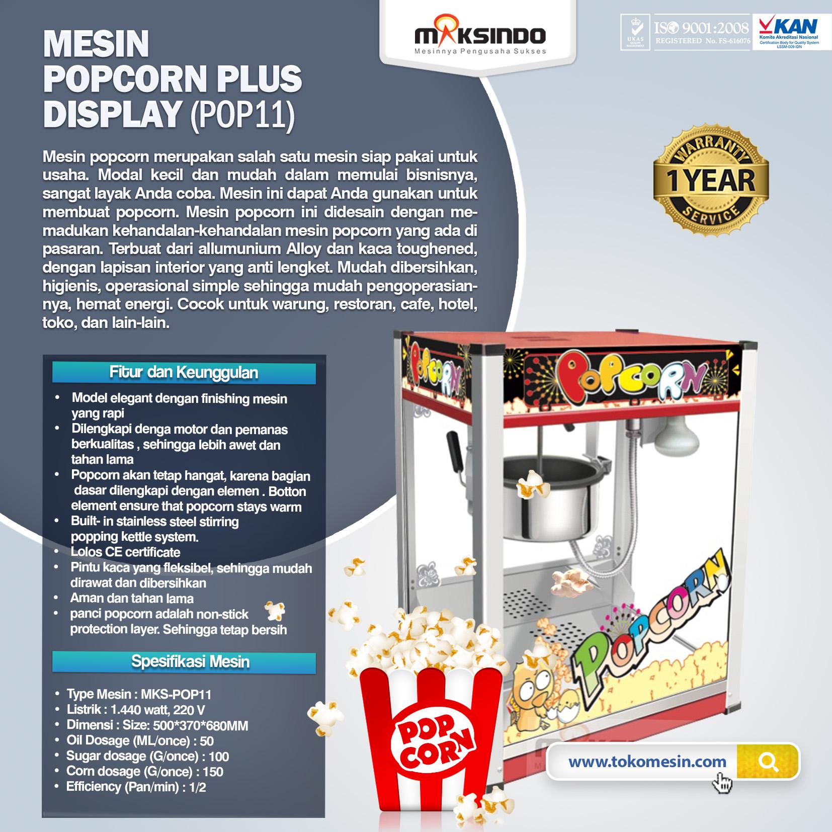 Mesin Popcorn Plus Display (POP11)