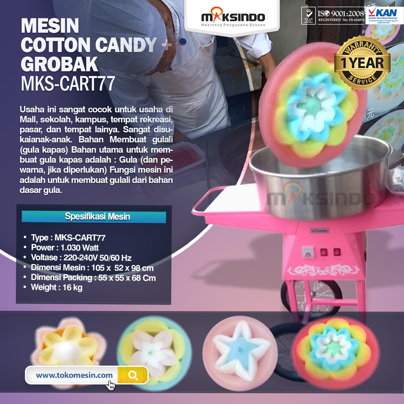Mesin Cotton Candy + Grobak MKS-CART77