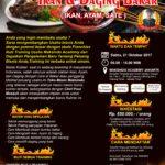 brousur ikan dan daging bakar