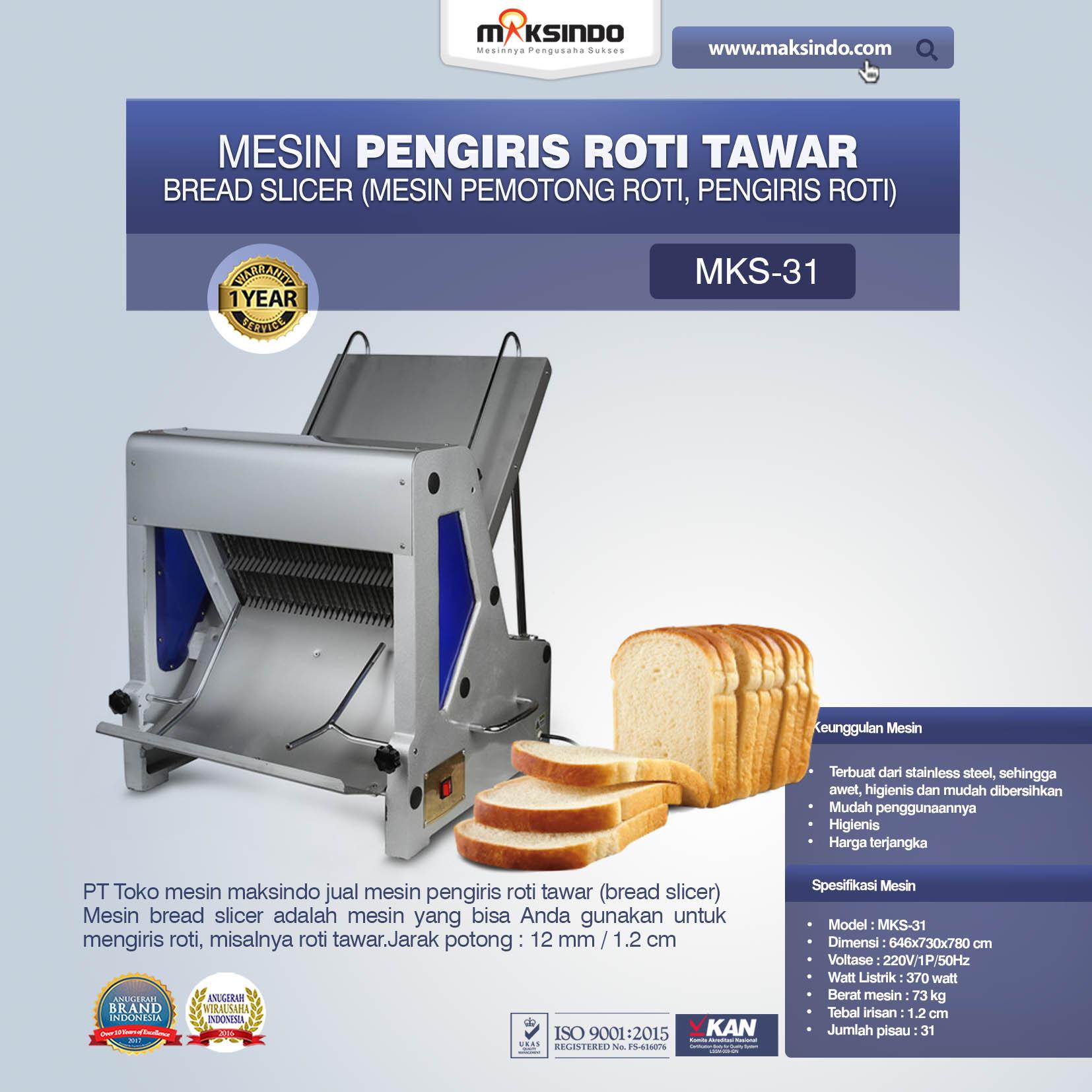 Jual Mesin Pengiris Roti Tawar (Bread Slicer) di Jakarta