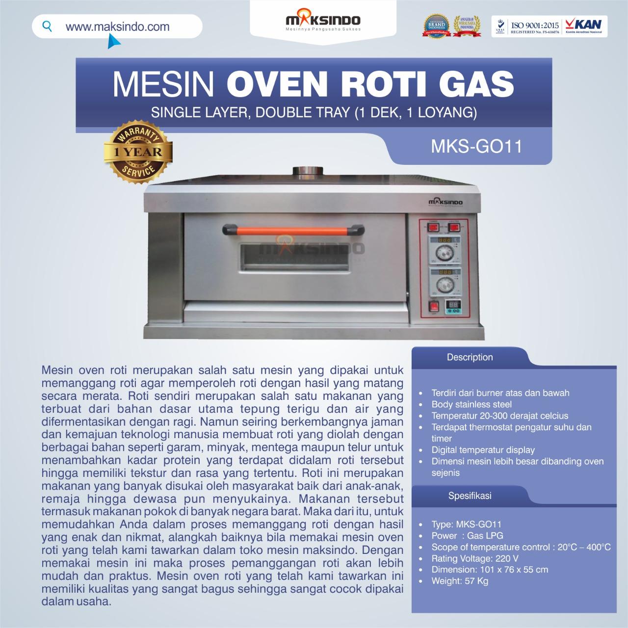 Jual Mesin Oven Roti Gas (MKS-GO11) di Jakarta