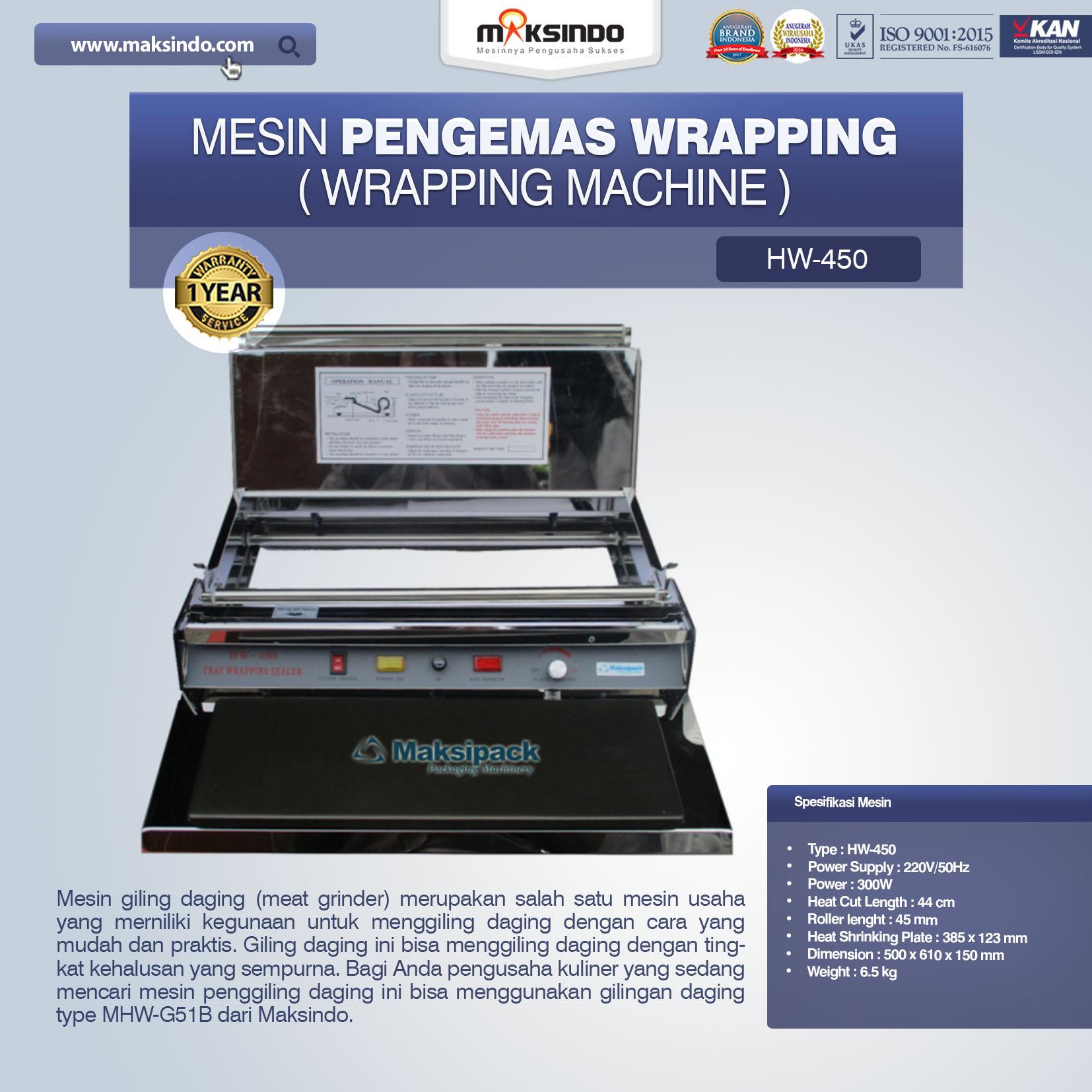 Jual Mesin Pengemas Wrapping di Jakarta