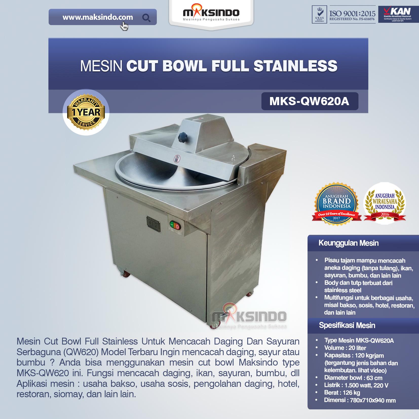 Jual Mesin Cut Bowl Full Stainless (QW620A) di Jakarta