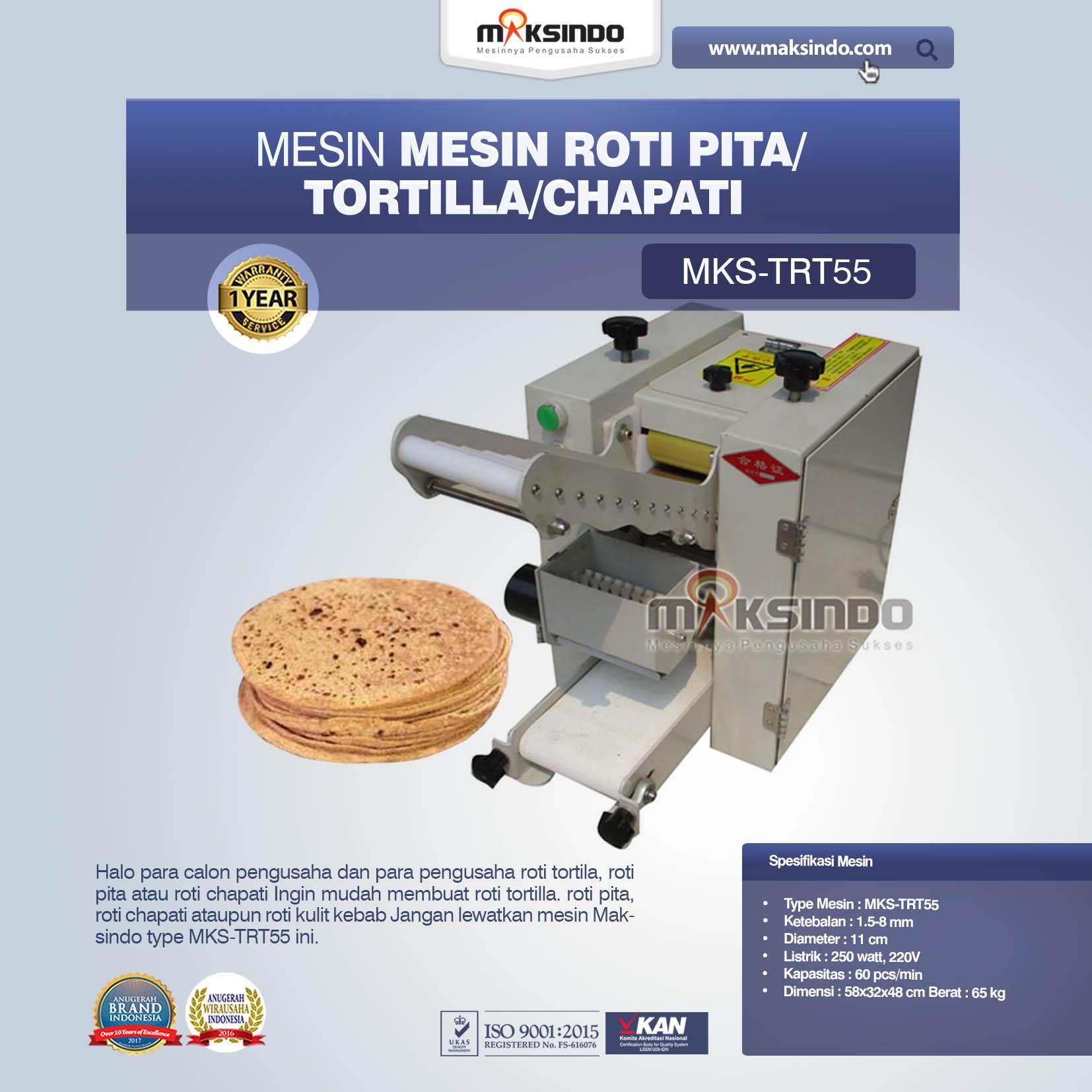 Jual Mesin Roti Pita/Tortilla/Chapati MKS-TRT55 di Jakarta