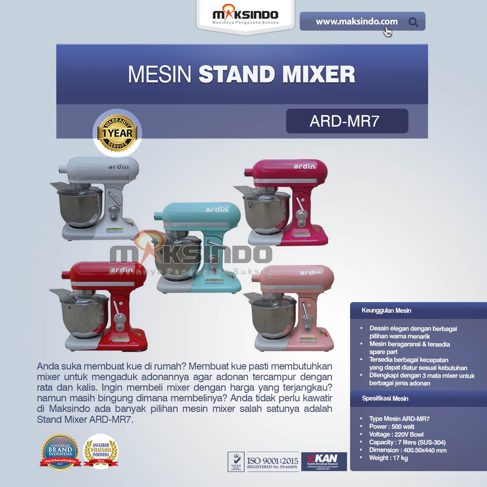 Jual Stand Mixer ARD-MR7 di Jakarta