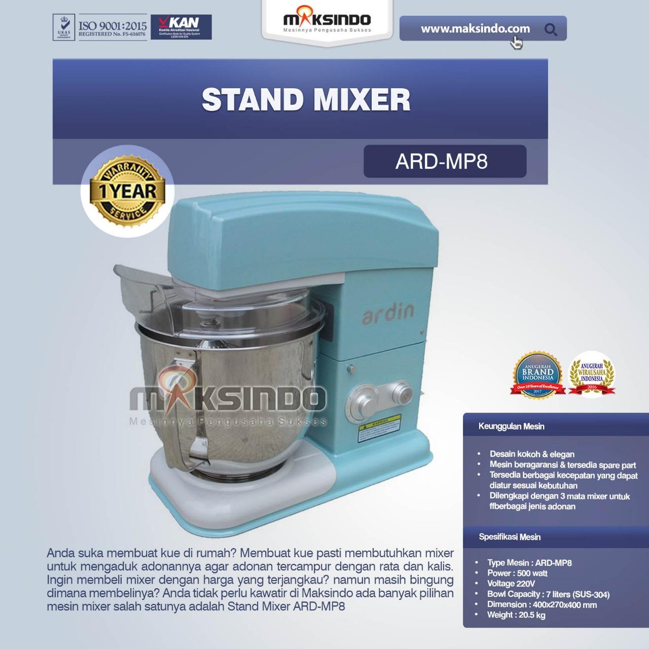 Jual Stand Mixer ARD-MR8 di Jakarta