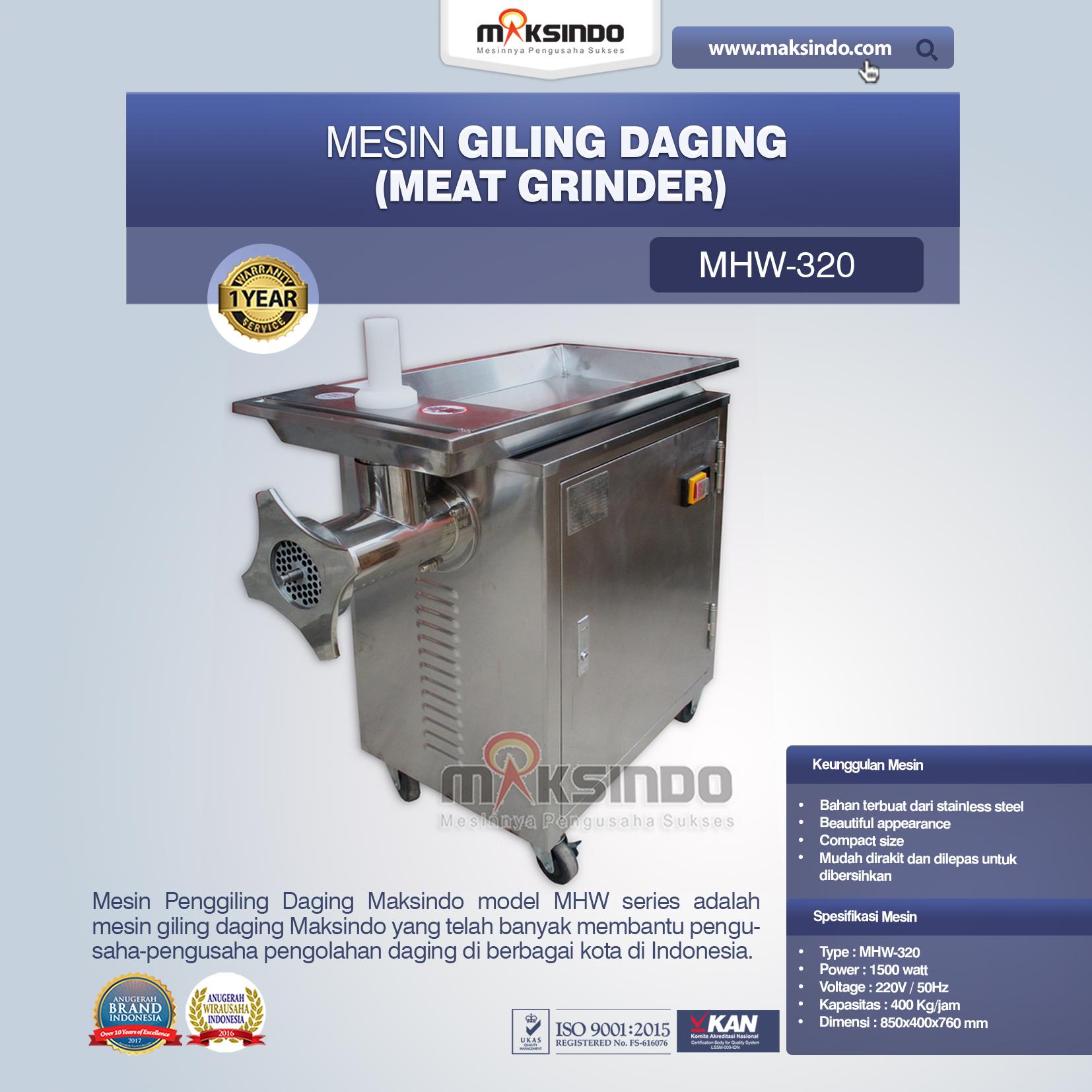 Jual Mesin Giling Daging MHW-320 di Jakarta