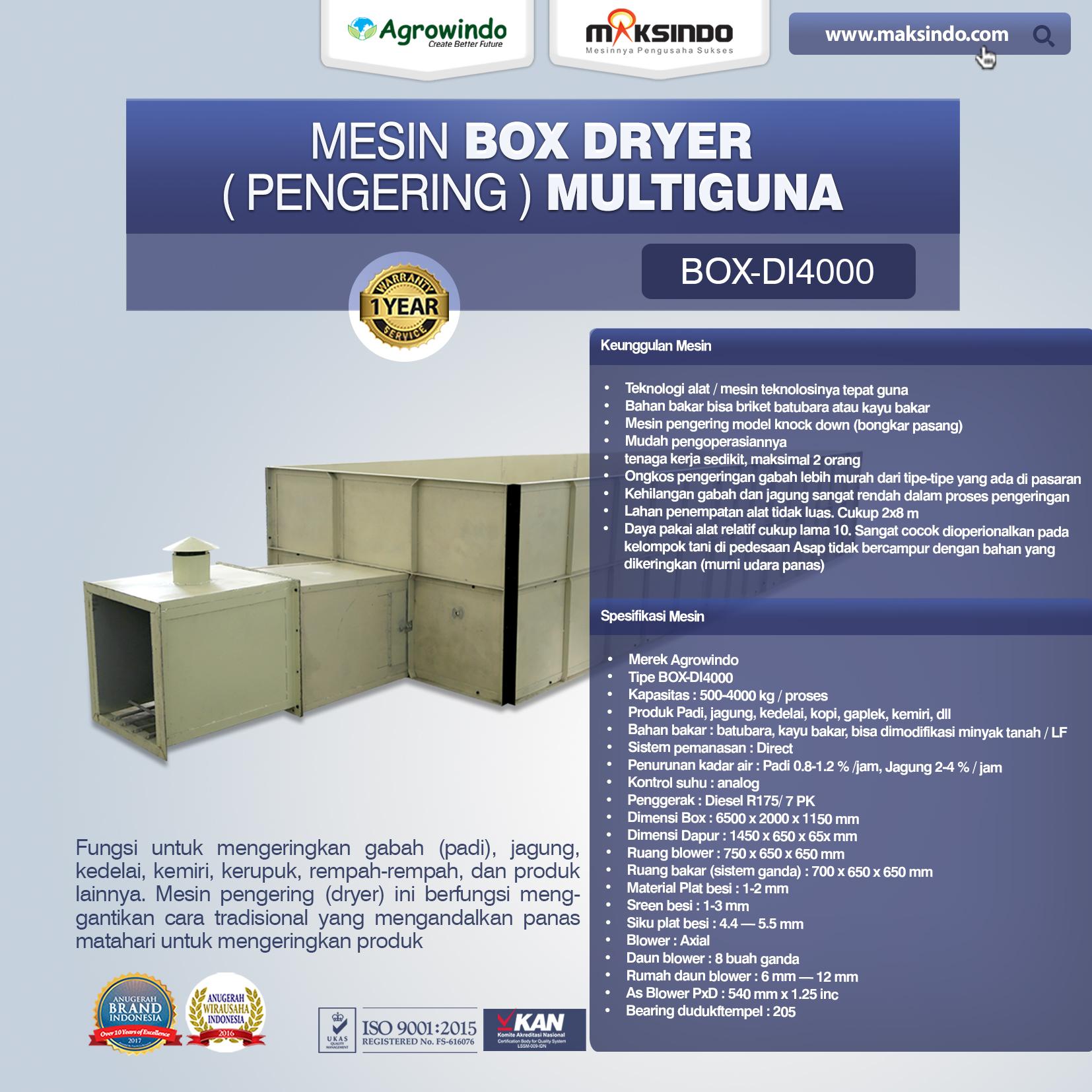 Jual Mesin Box Dryer Multiguna di Jakarta