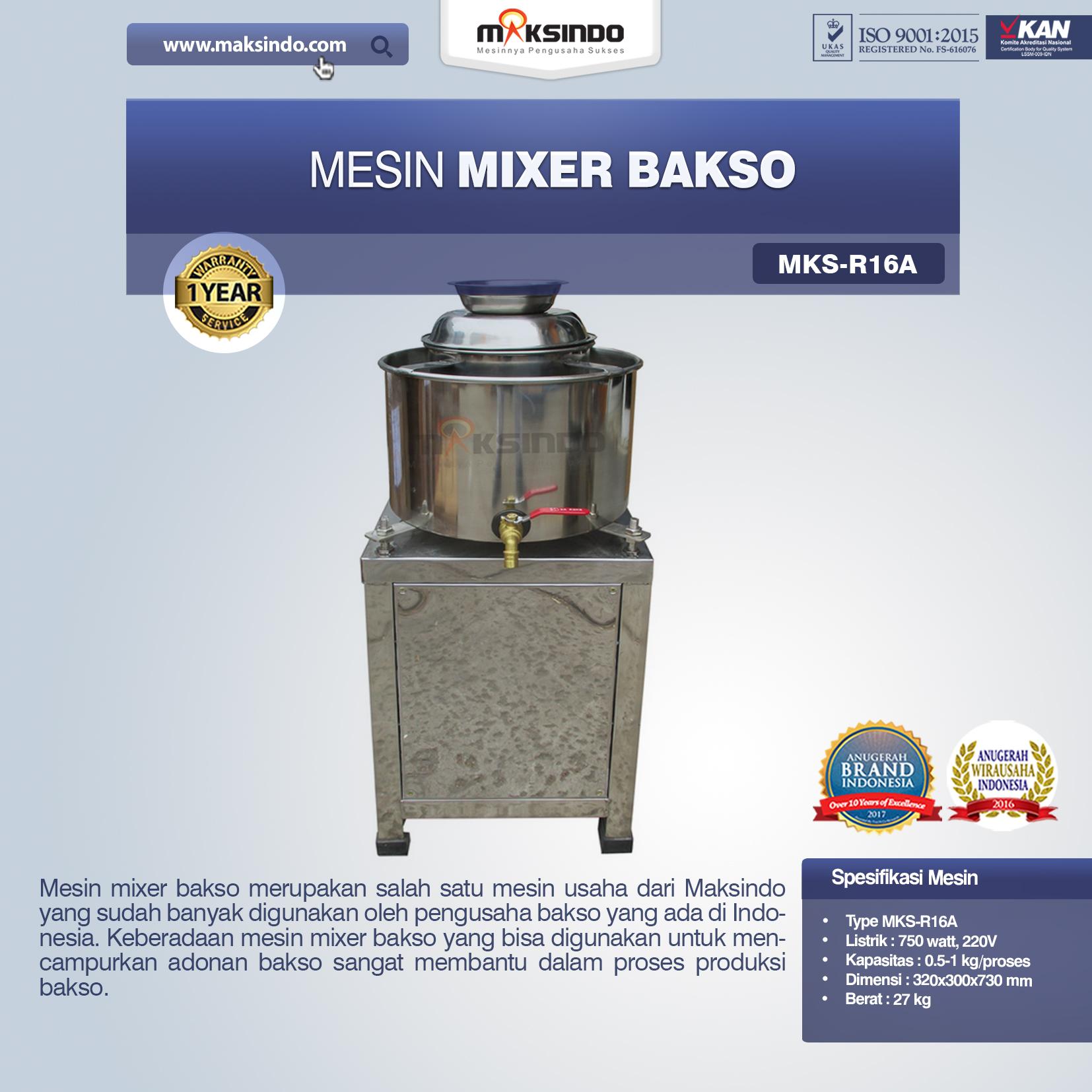Jual Mesin Mixer BaksoMKS-R16A, MKS-R23A di Jakarta