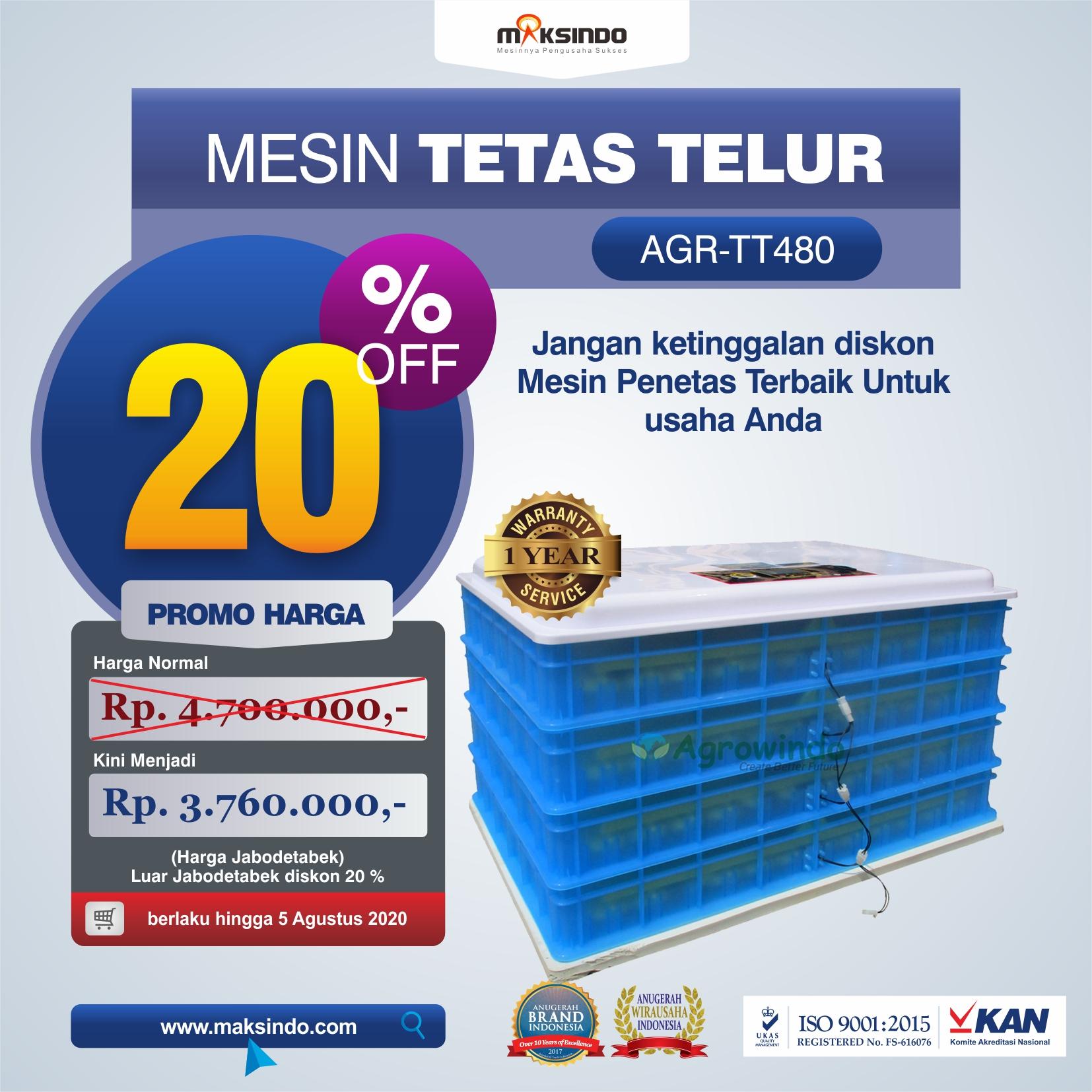 Jual Mesin Penetas Telur AGR-TT480 di Jakarta