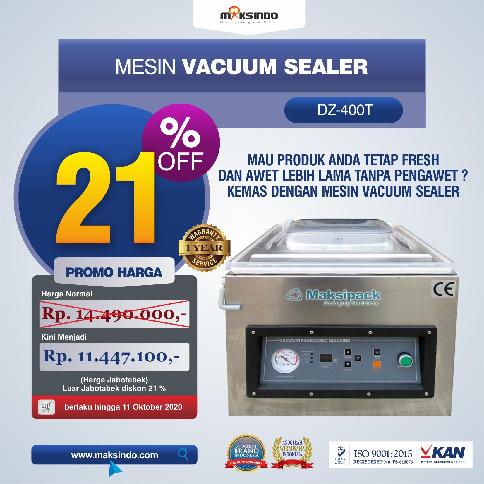 Jual Mesin Vacuum Sealer DZ400T di Jakarta