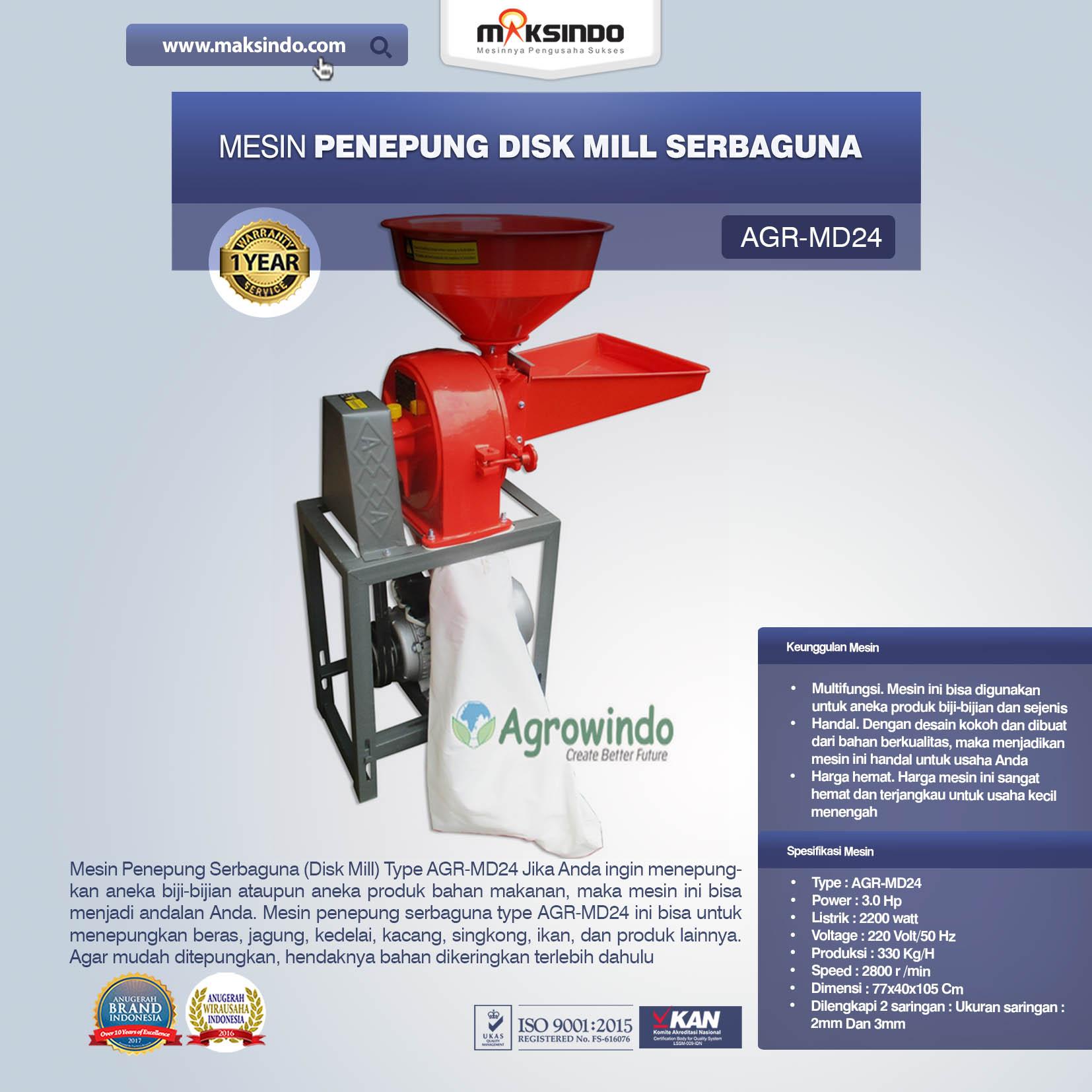 Jual Penepung Disk Mill Serbaguna (AGR-MD24) Di Jakarta