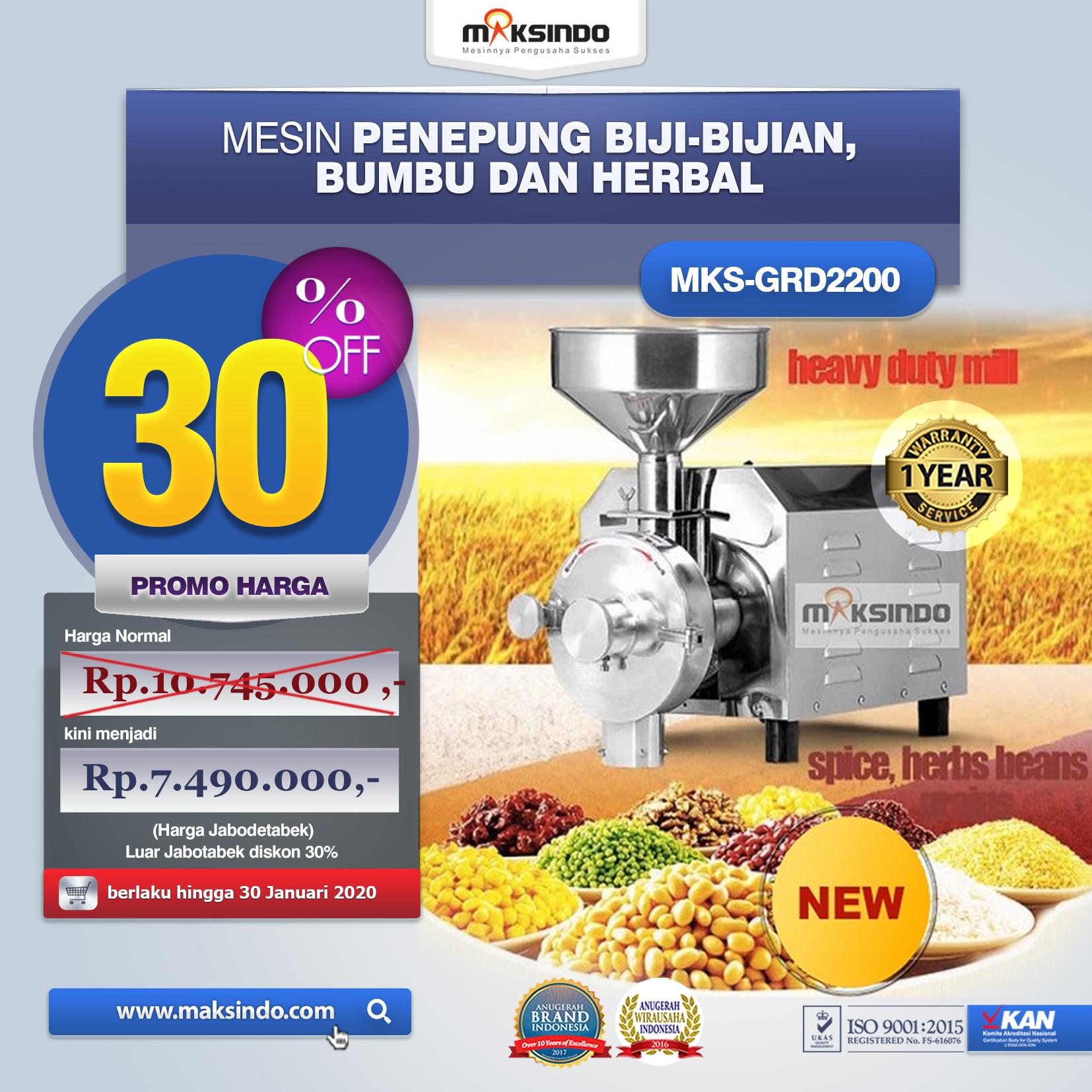 Jual Penepung Biji, Bumbu dan Herbal (GRD2200) di Jakarta