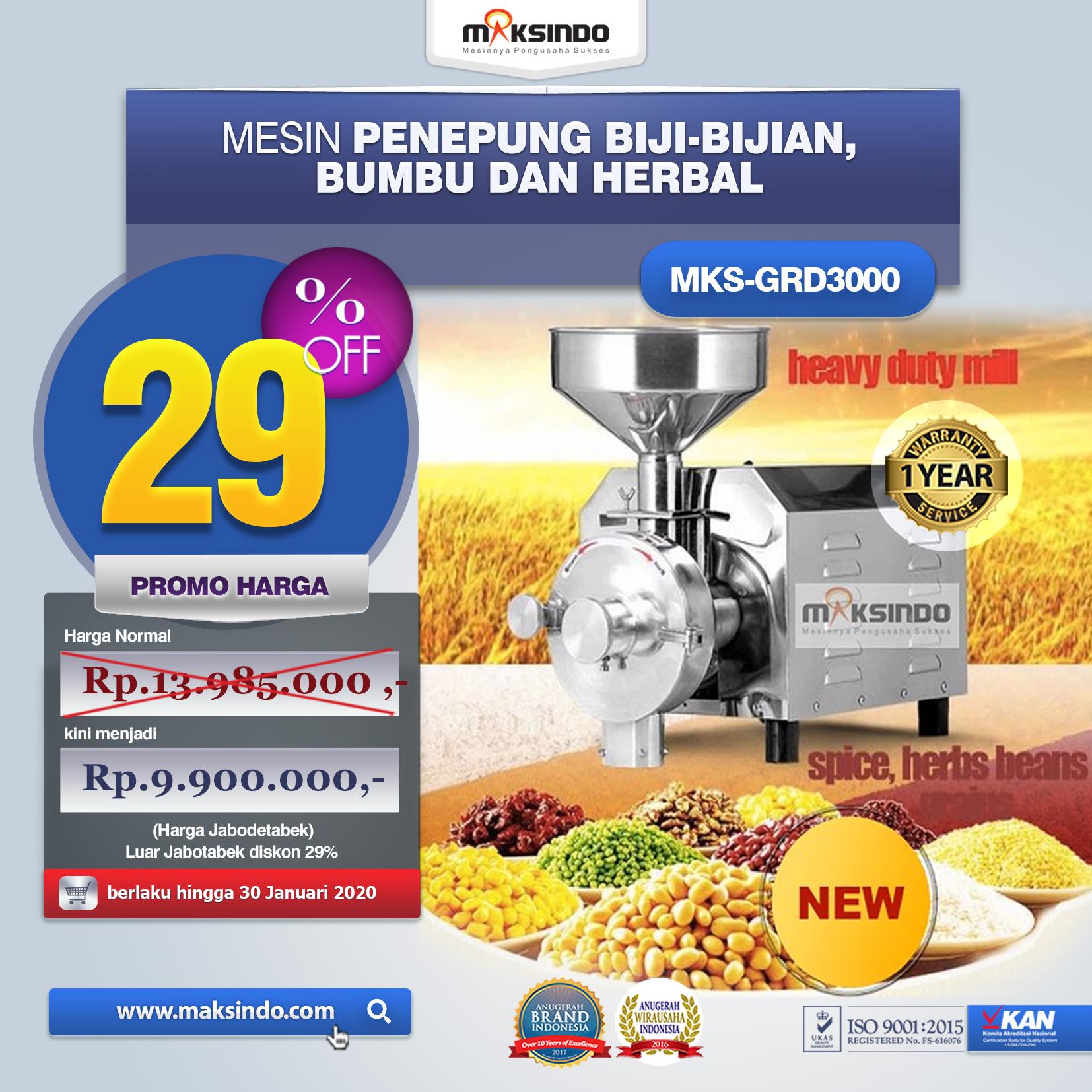 Jual Penepung Biji, Bumbu dan Herbal (GRD3000) di Jakarta