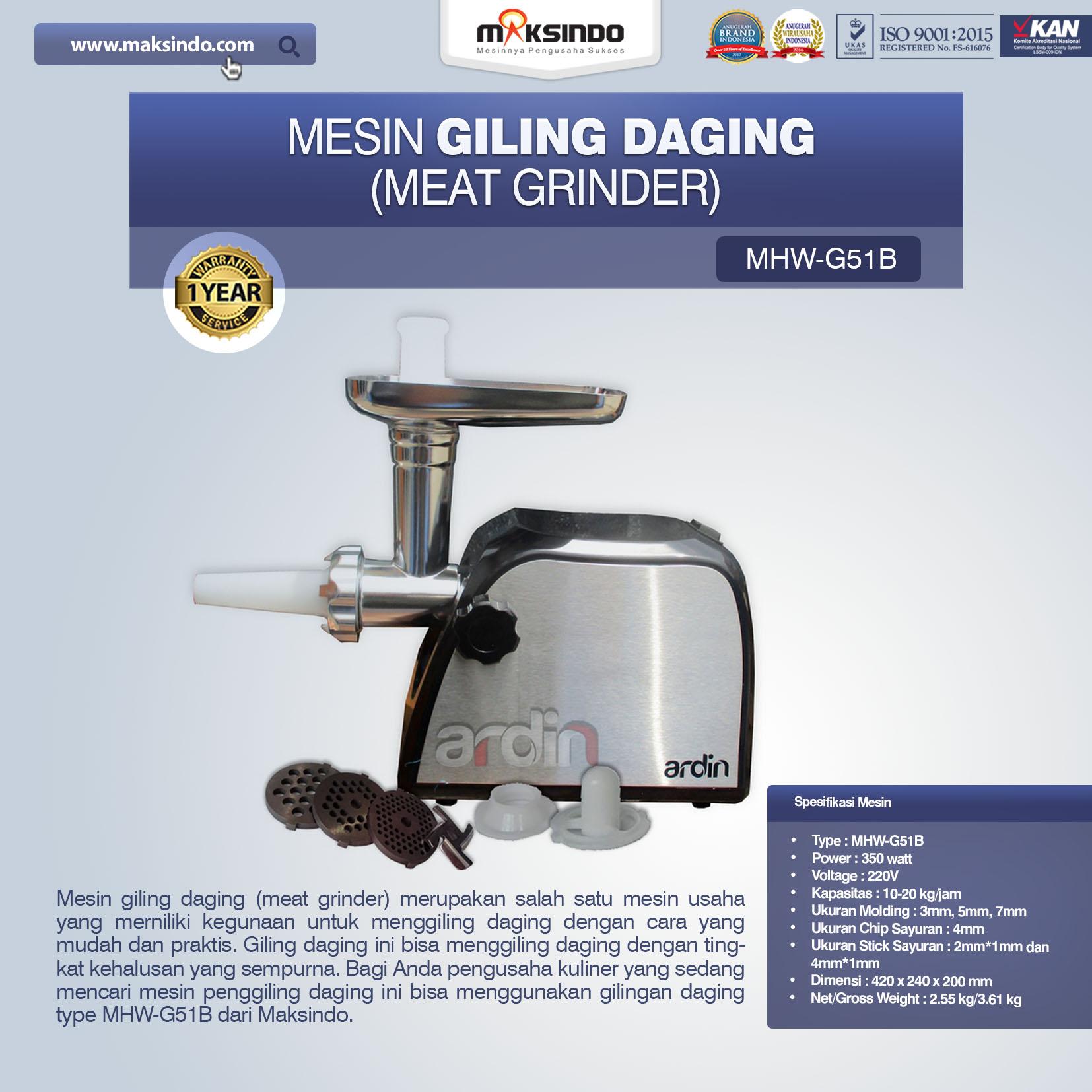 Jual Mesin Giling Daging (Meat Grinder) MHW-G51B Di Jakarta