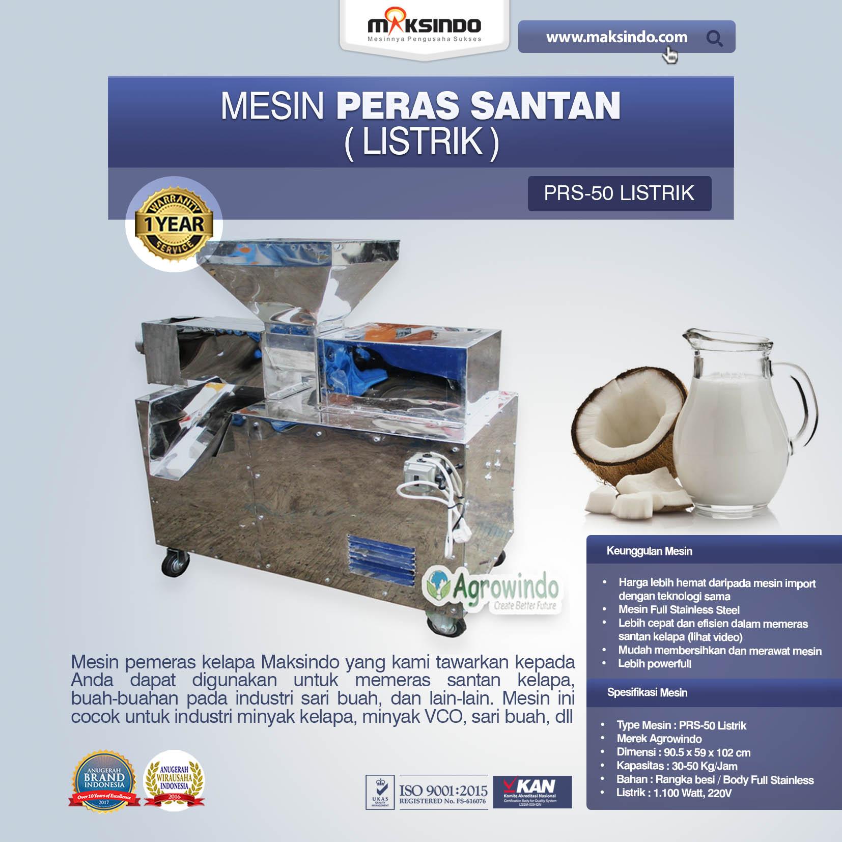 Jual Mesin Pemeras Santan Manual dan Listrik di Jakarta