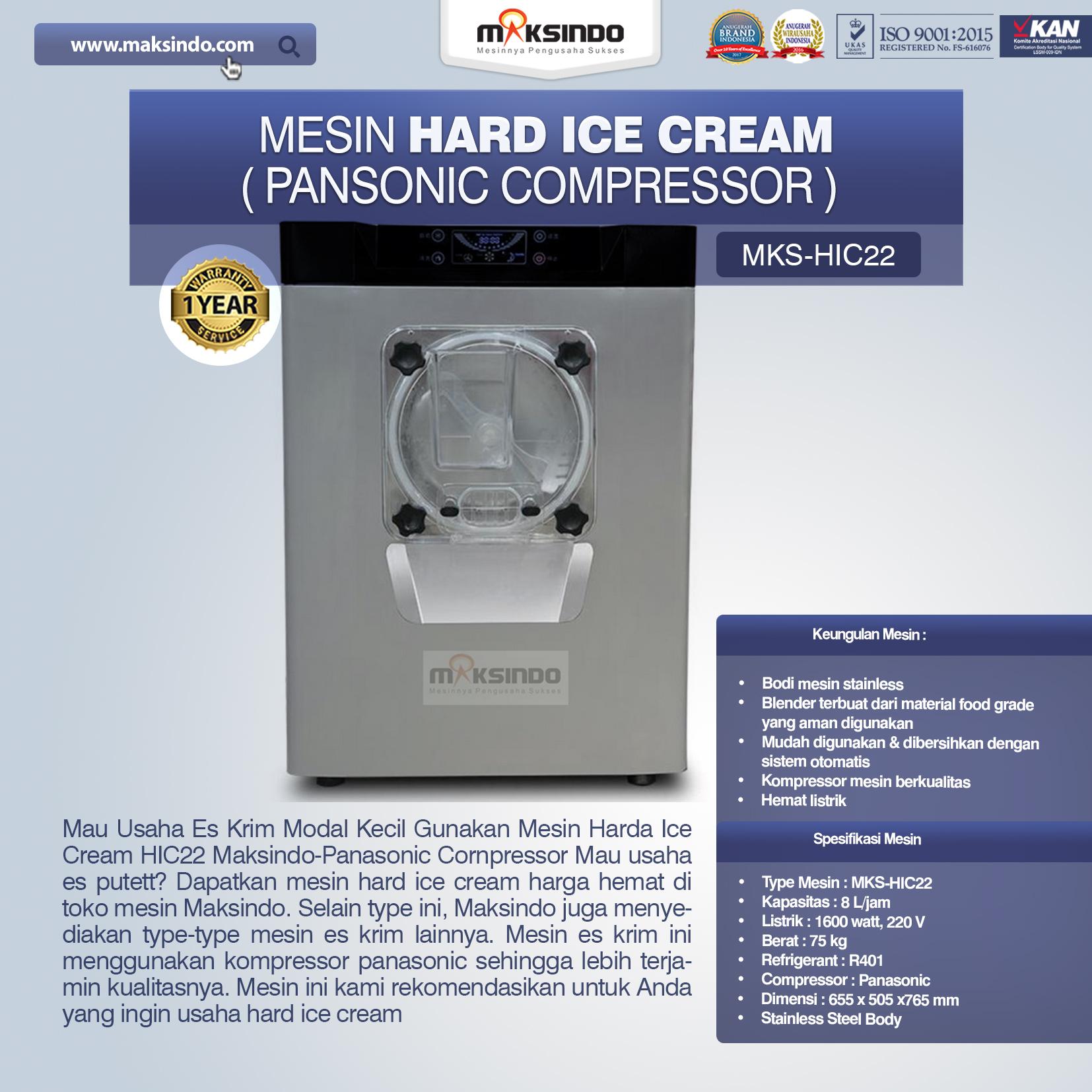 Jual Mesin Hard Ice Cream (HIC22) di Jakarta