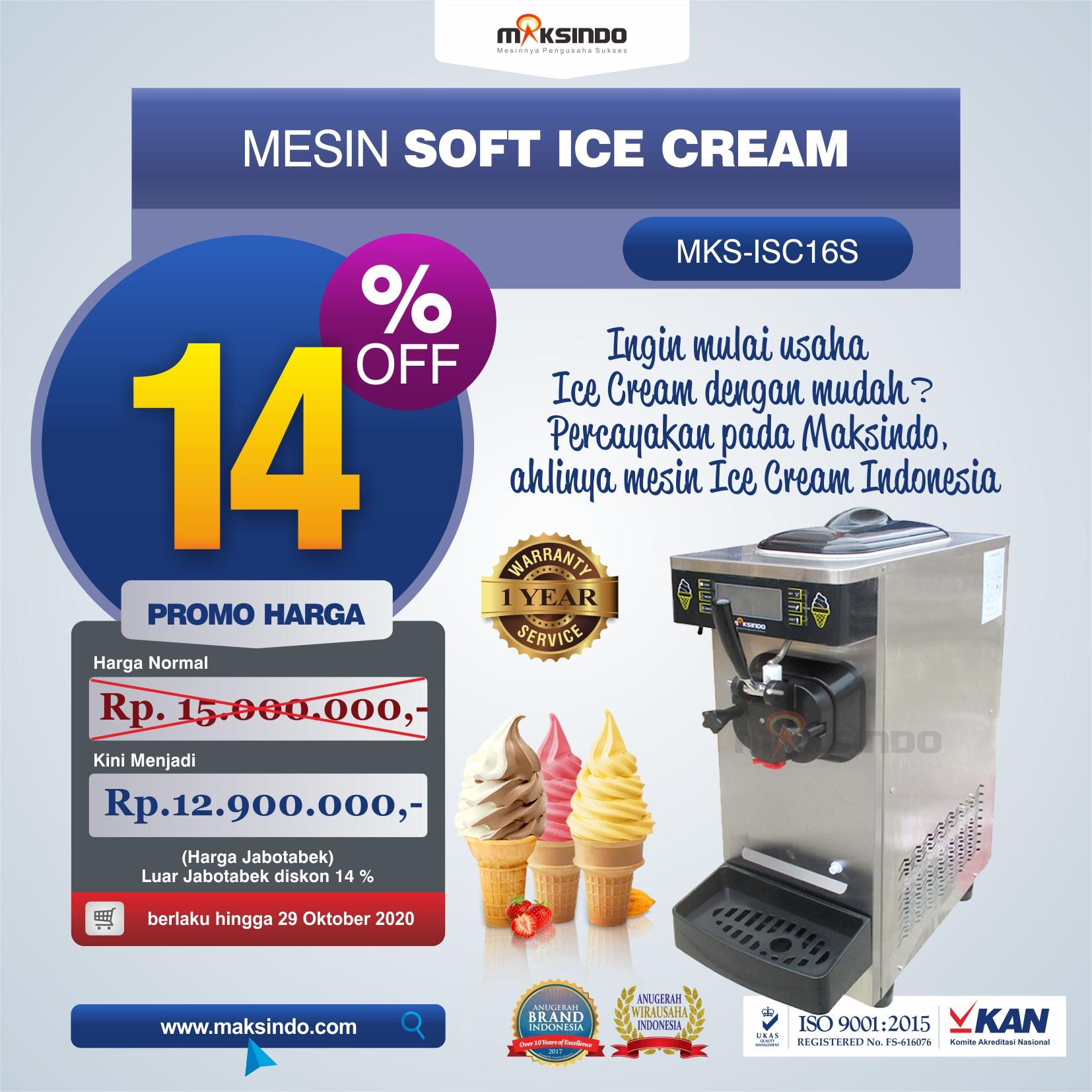 Jual Mesin Soft Ice Cream ISC-16S di Jakarta