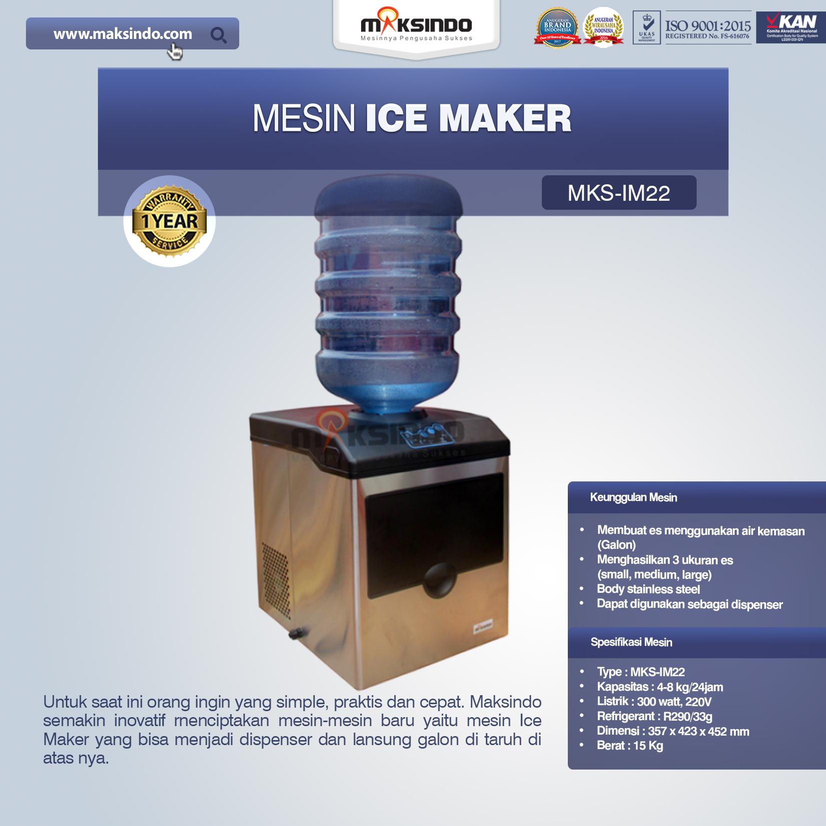 Jual Mesin Ice Maker MKS-IM22 di Jakarta