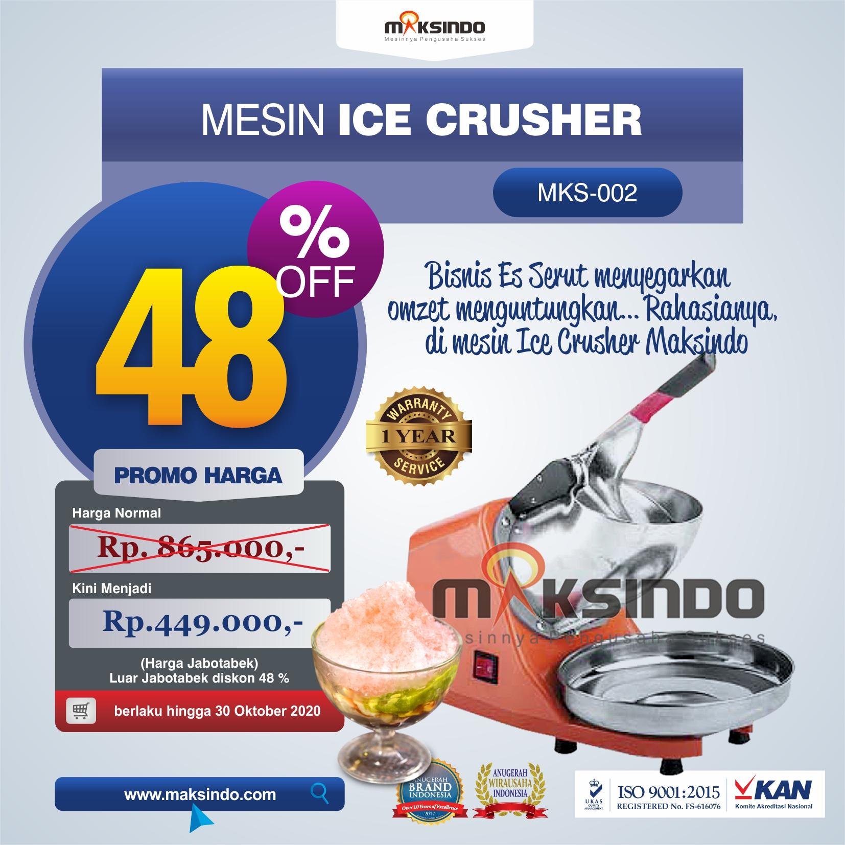 Jual Mesin Ice Crusher di Jakarta