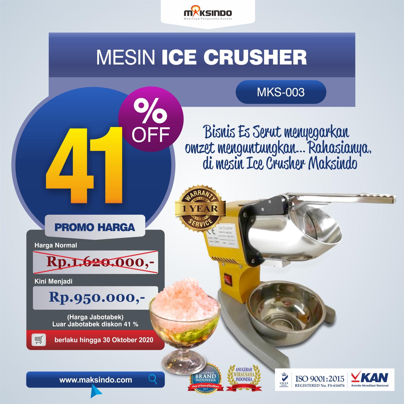 Jual Mesin Es Serut (Ice Crusher MKS-003) di Jakarta