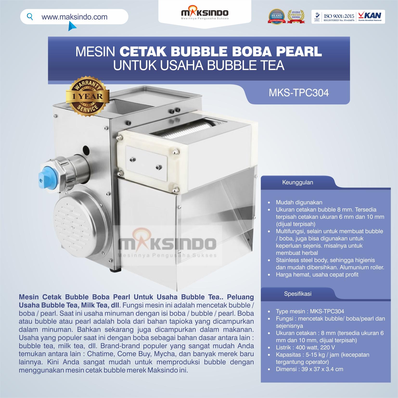Jual Mesin Cetak Bubble Boba Pearl Untuk Usaha Bubble Tea di Jakarta