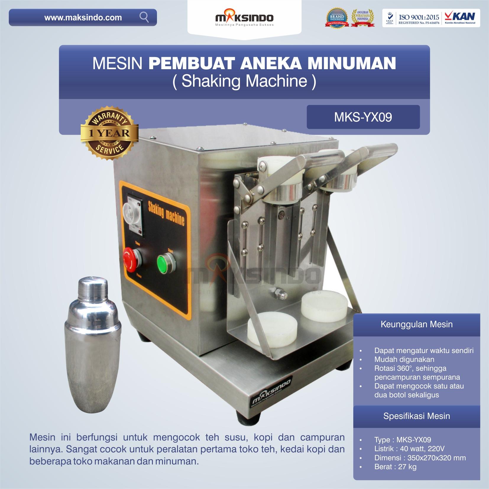 Jual Mesin Pembuat Aneka Minuman (Shaking Machine) MKS-YX09 di Jakarta