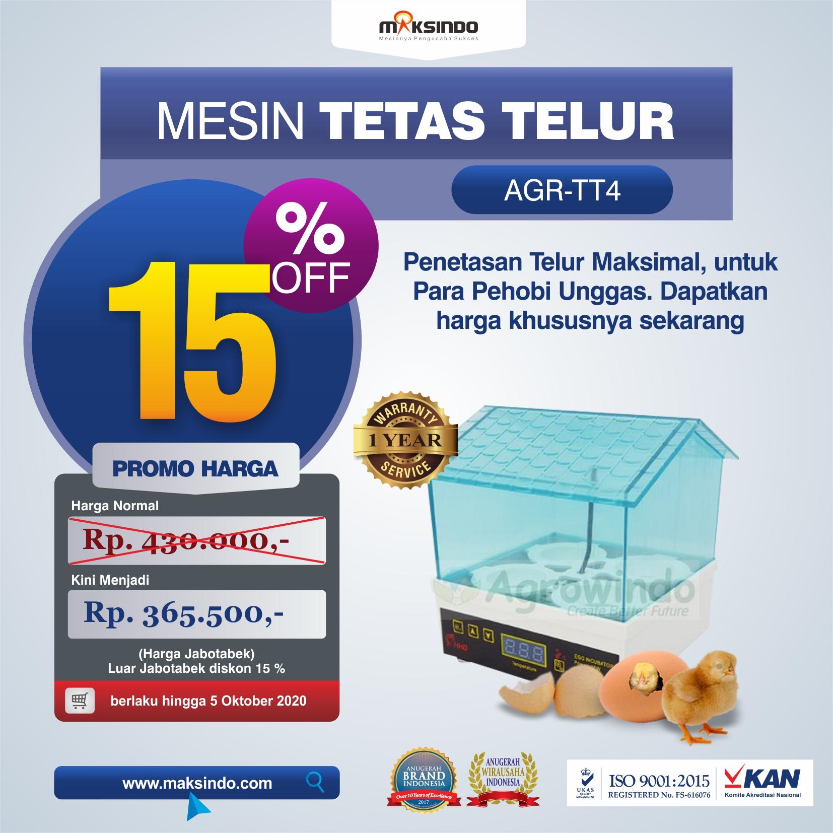Jual Tetas Telur Mini 4 Butir (AGR-TT4) di Jakarta