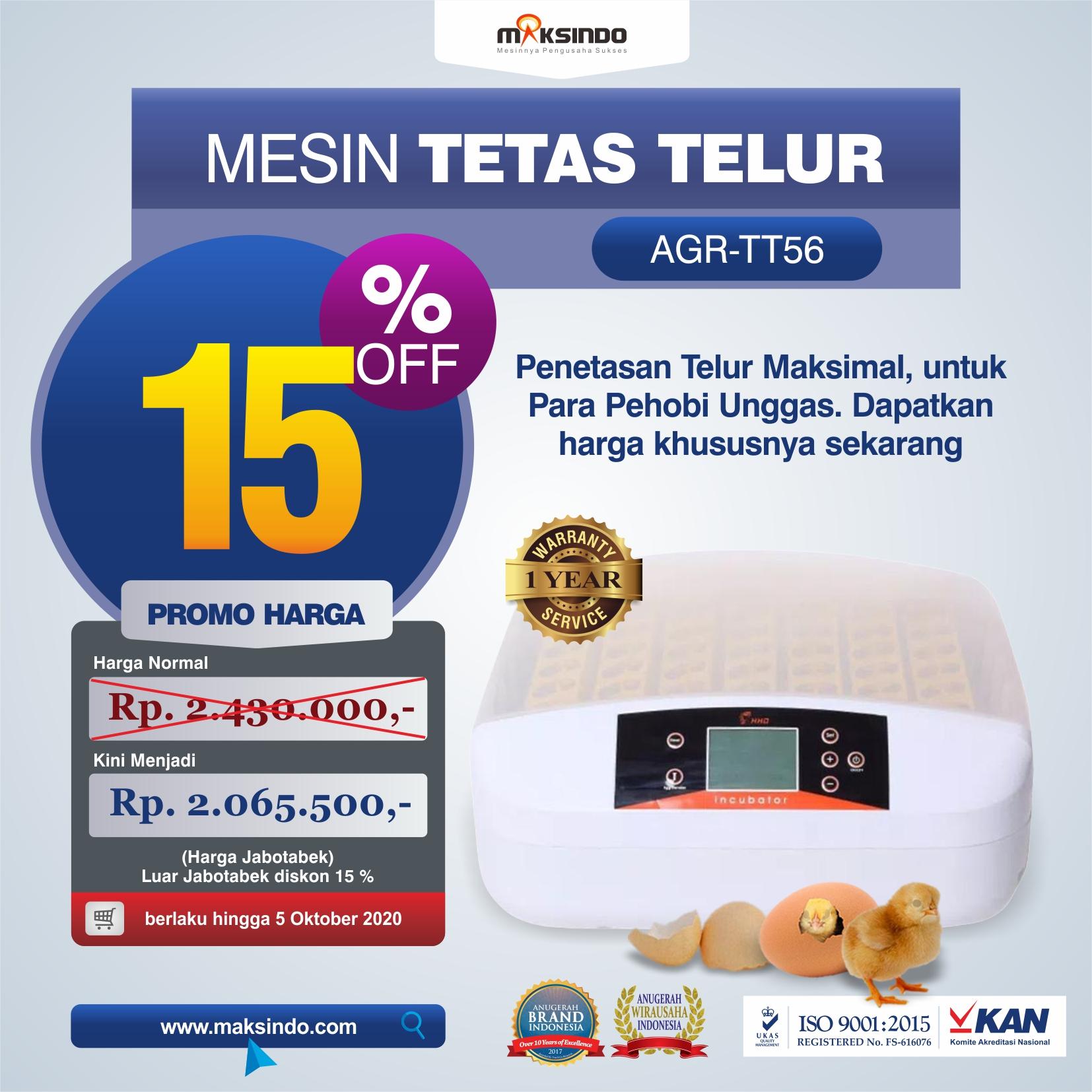 Jual Mesin Penetas Telur 56 Butir (AGR-TT56) di Jakarta