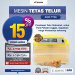 Jual Mesin Penetas Telur 96 Butir Otomatis – AGR-TT96 di Jakarta