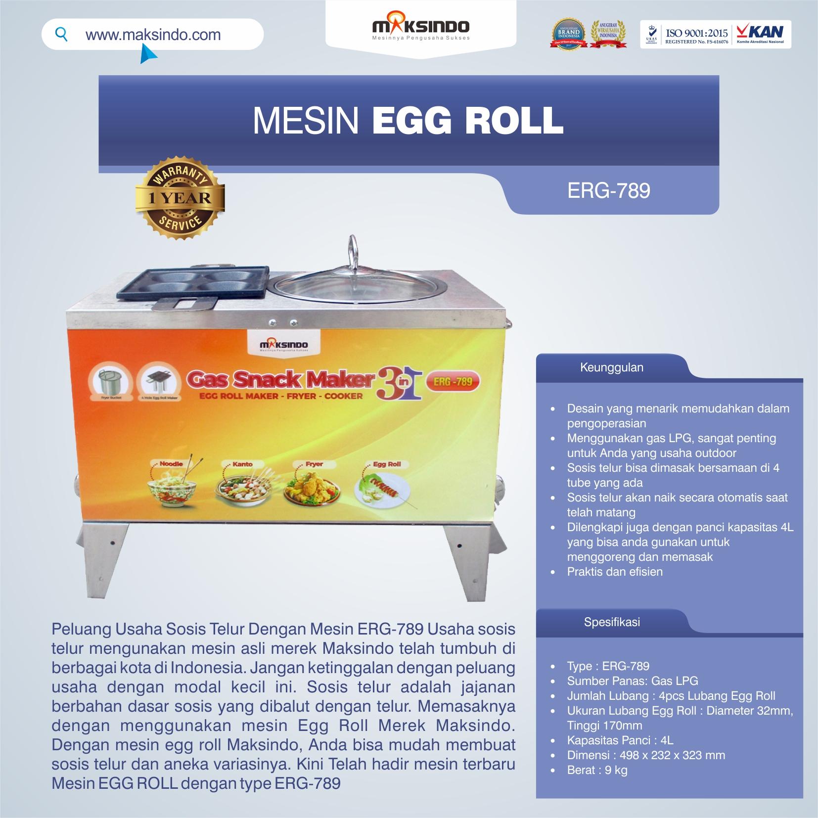 Jual Mesin Egg Roll ERG-789 di Jakarta