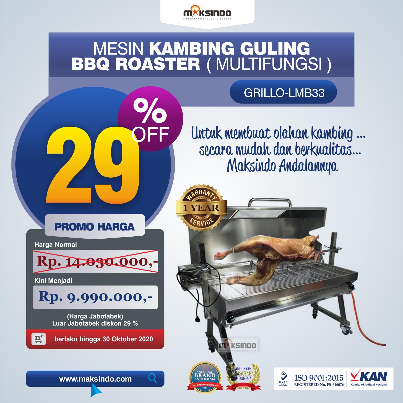 Jual Mesin Kambing Guling BBQ Roaster (GRILLO-LMB33) di Jakarta