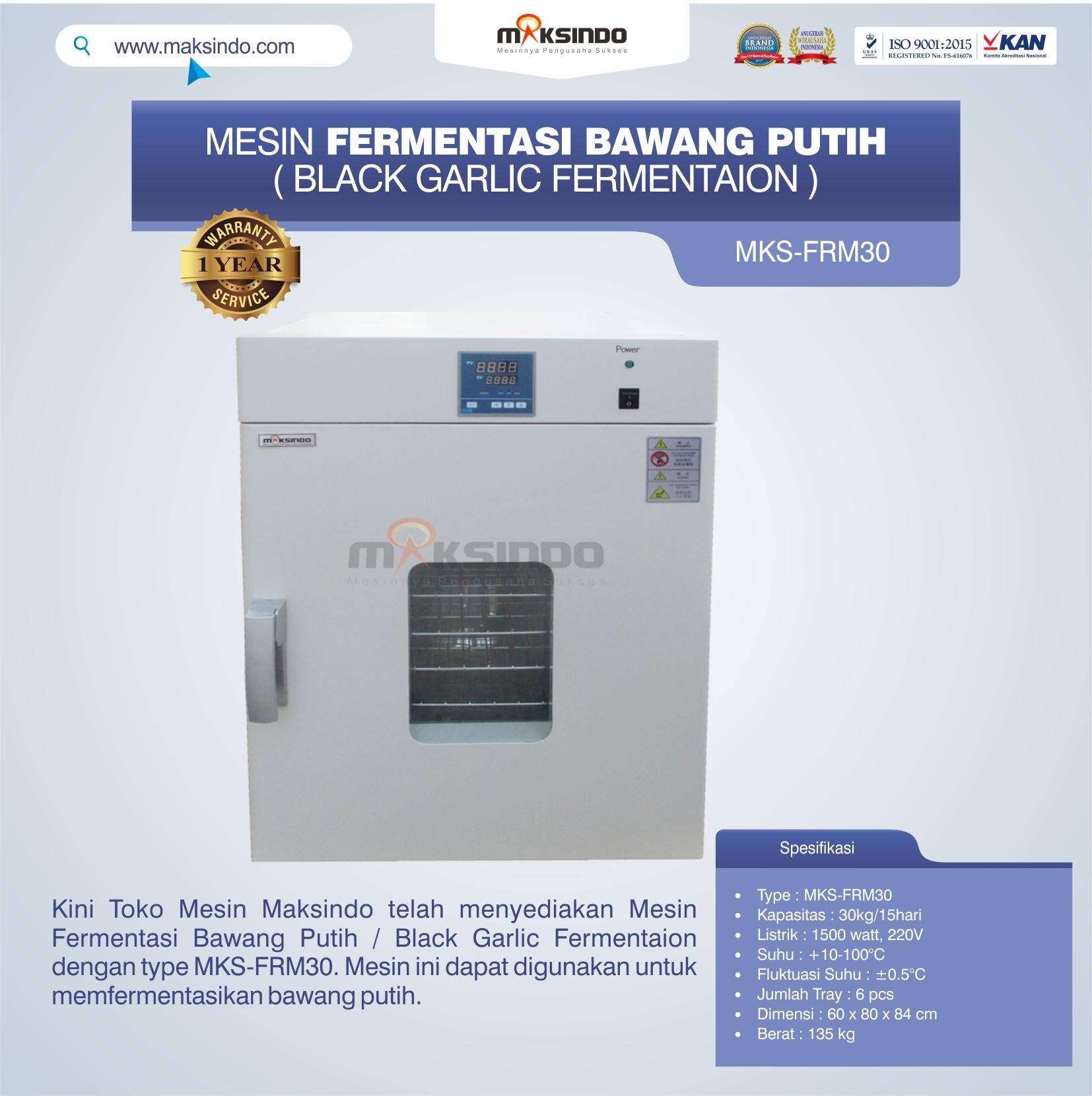 Jual Mesin Fermentasi Bawang Putih / Black Garlic Fermentaion MKS-FRM30 di Jakarta