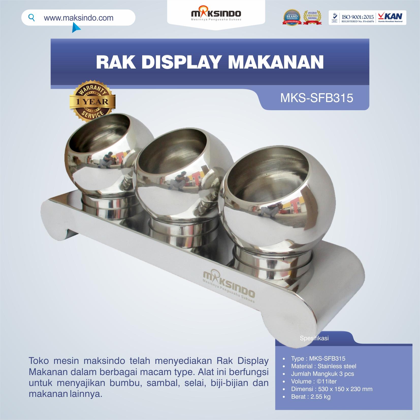 Jual Rak Display Makanan MKS-SFB315 di Jakarta