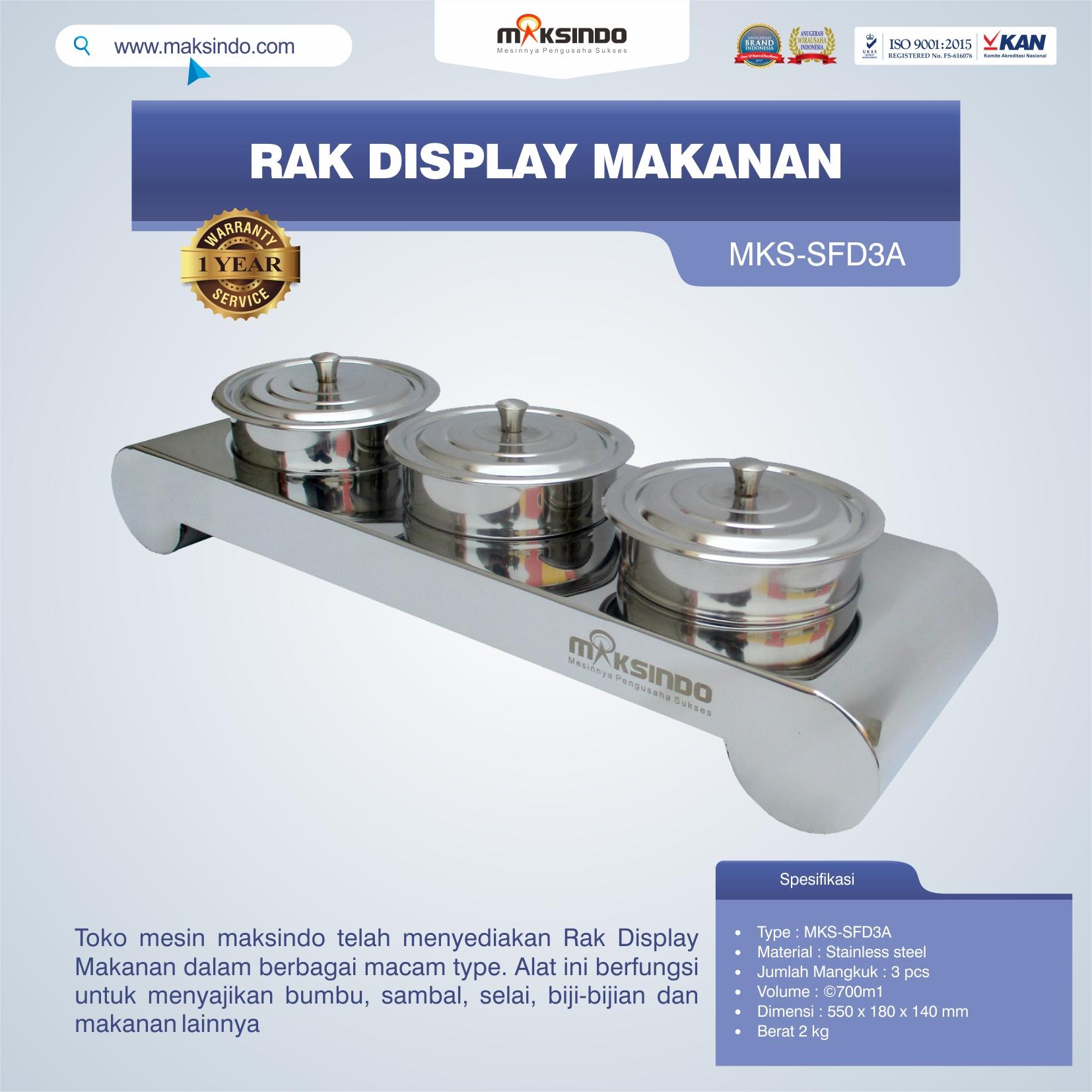 Jual Rak Display Makanan MKS-SFD3A di Jakarta