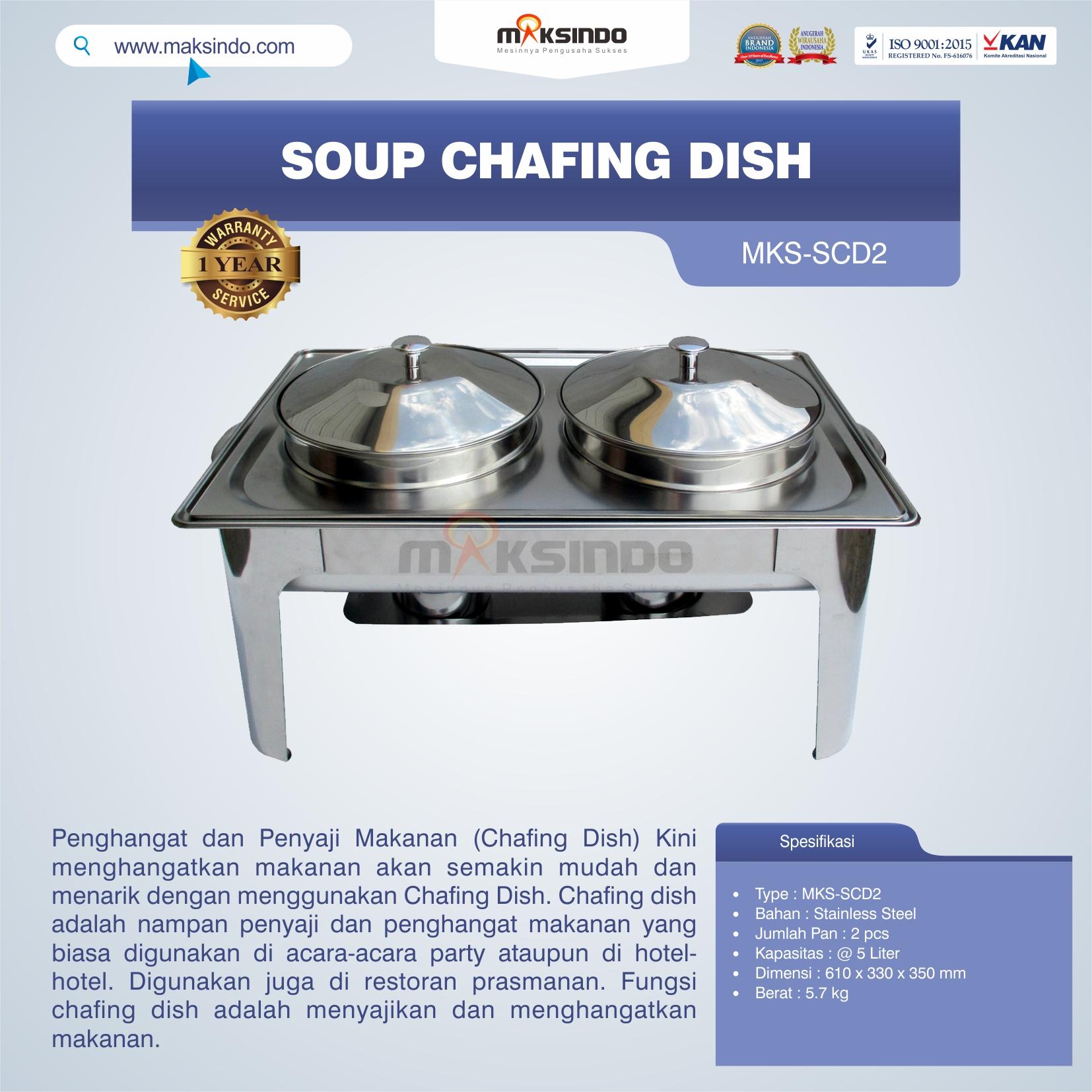 Jual Soup Chafing Dish MKS-SCD2 di Jakarta