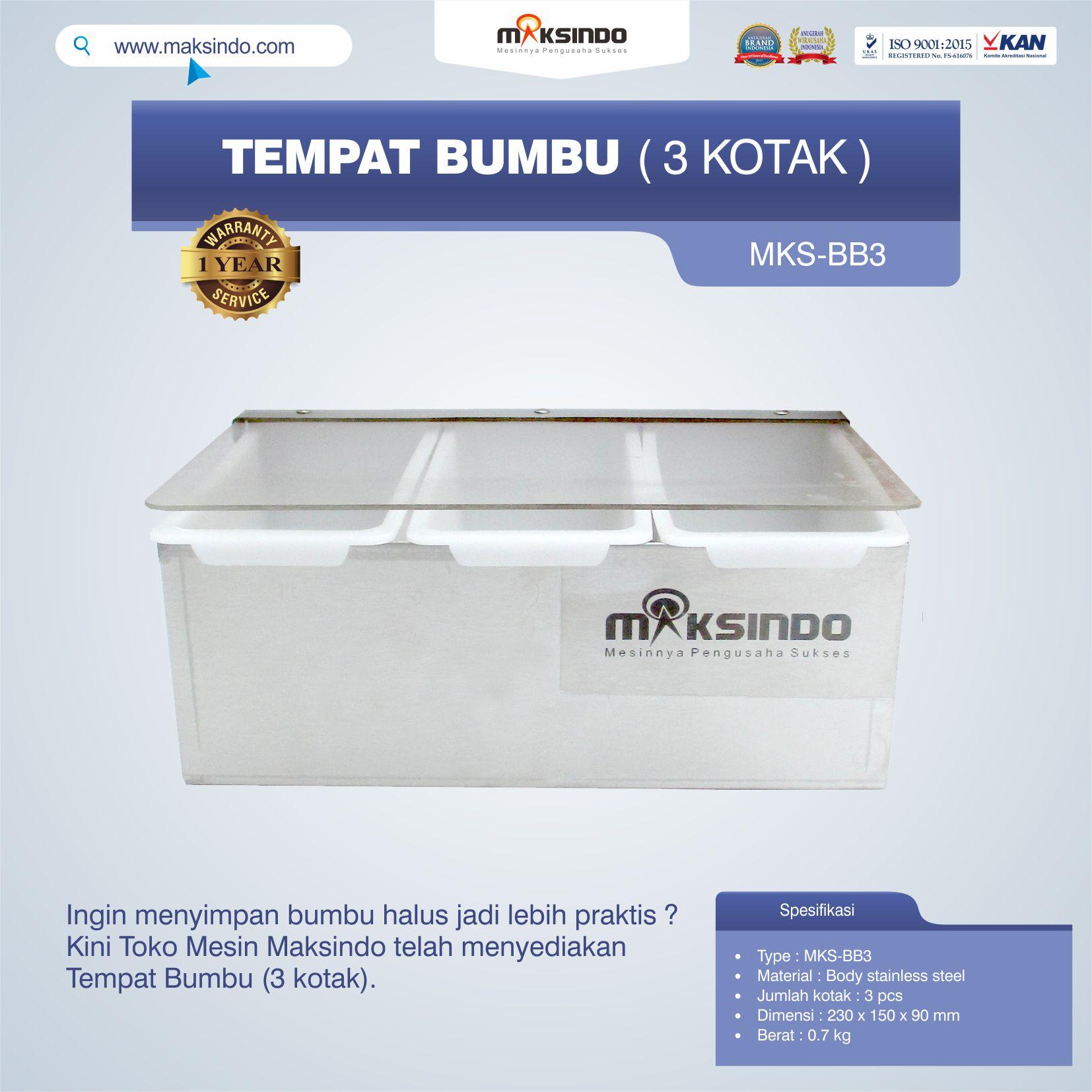 Jual Tempat Bumbu (3 kotak) di Jakarta