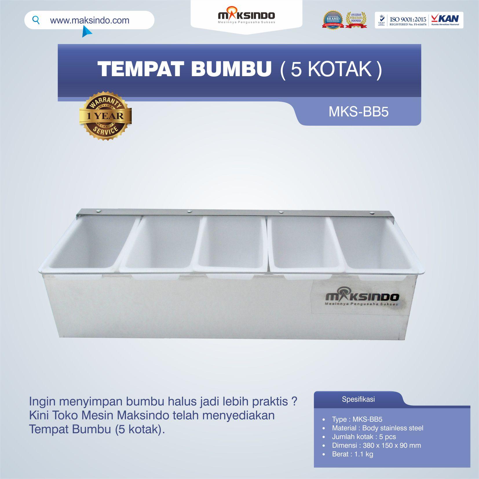 Jual Tempat Bumbu (5 kotak) di Jakarta