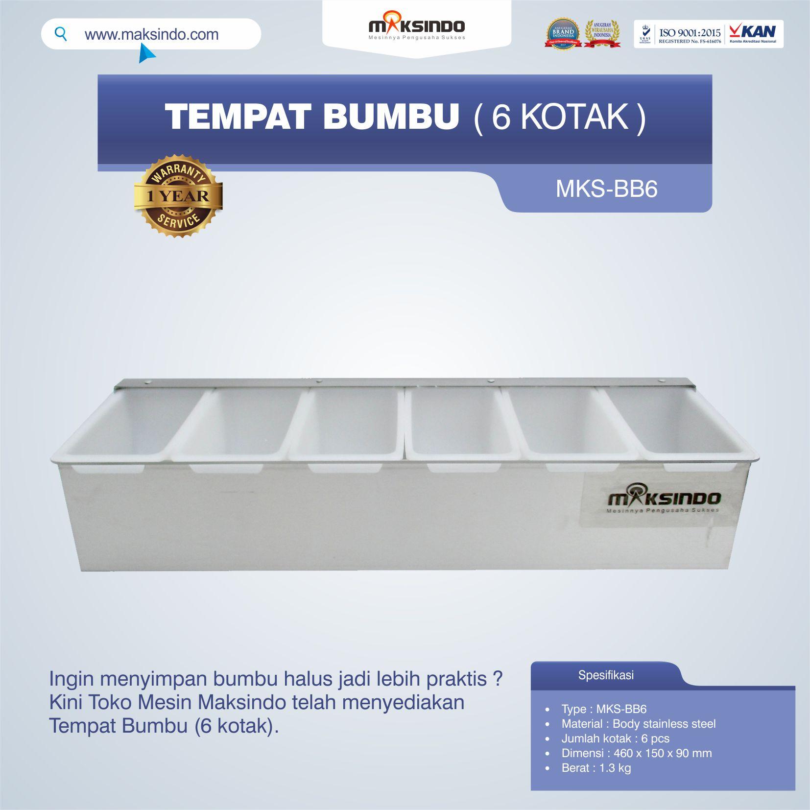 Jual Tempat Bumbu (6 kotak) di Jakarta
