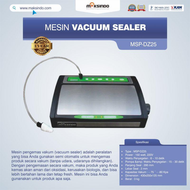 Jual Vacuum Sealer MSP-DZ25 di Jakarta